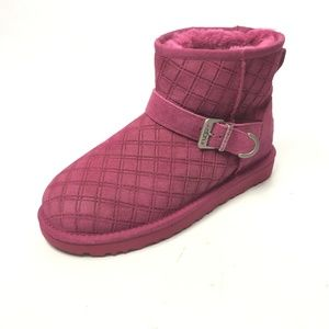 UGG Marilu Double Diamond Women's Pink Boots 7 NEW
